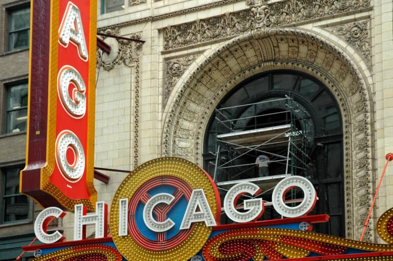 Custom Fabrication of Architectural Glass for Chicago Theater Historic Window from Construction Specialty Projects by Commercial Builder & General Contractor Structural Enterprises