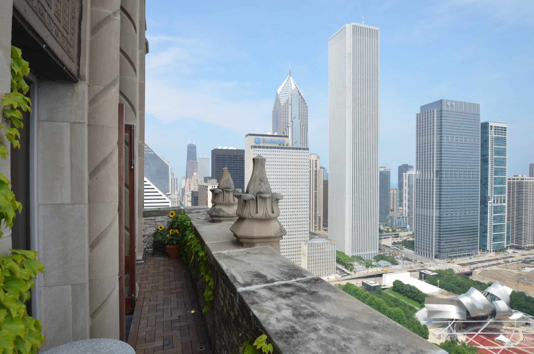 Custom Ipe Deck Patio and Landscape for Michigan Avenue Penthouse Remodel by Commercial Builder & General Contractor Structural Enterprises