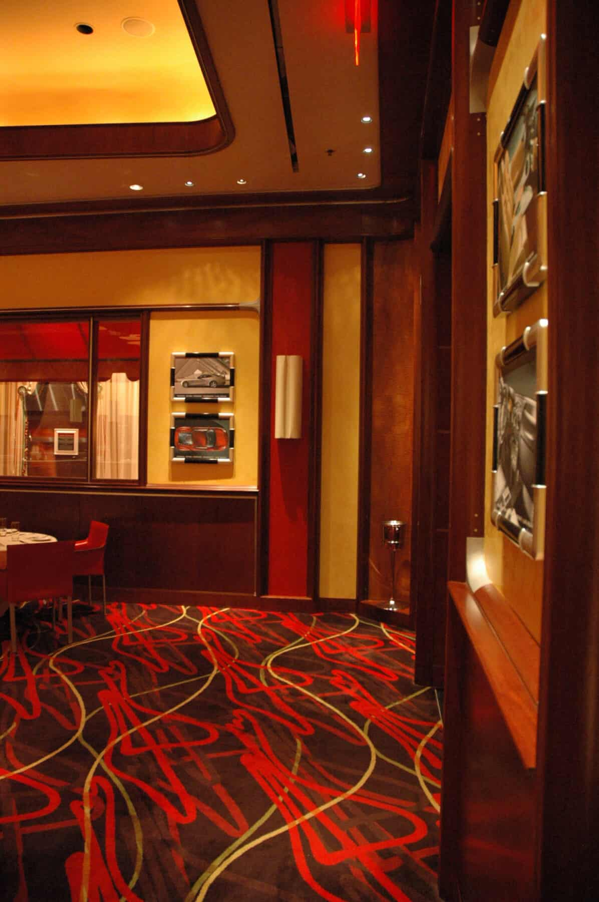 Custom Flooring and Wall Finishes for Restaurant at Wynn Hotel Remodel by Commercial Builder & General Contractor Structural Enterprises