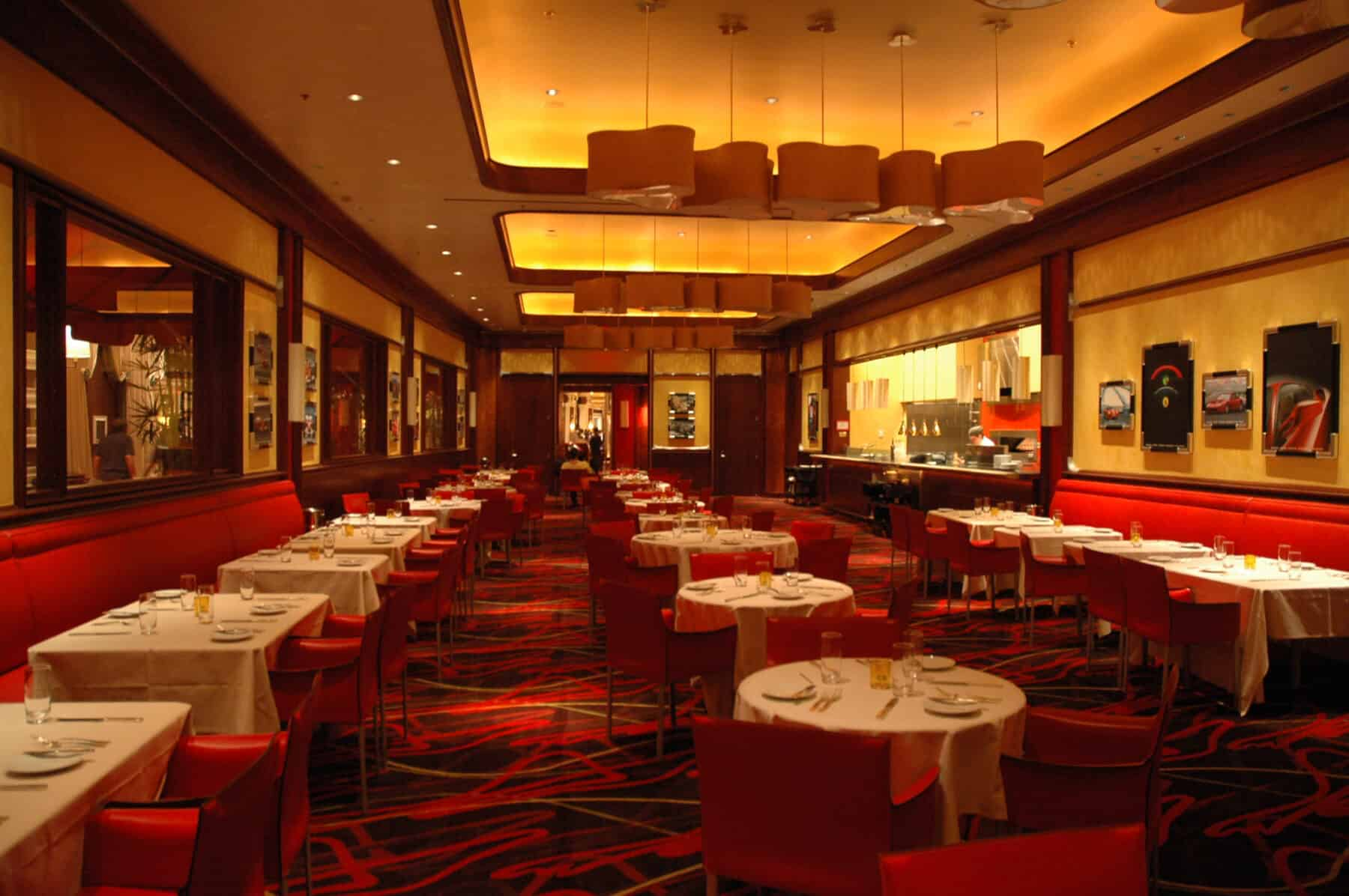 Custom Interior Finishes and Lighting for Restaurant at Wynn Hotel Remodel by Commercial Builder & General Contractor Structural Enterprises